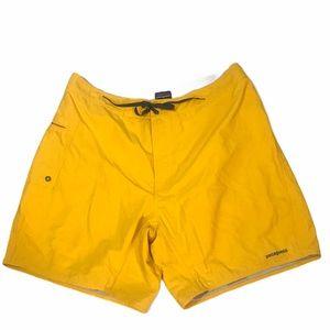 """Patagonia Yellow Swim Trunks Suit 8"""" Inseam"""